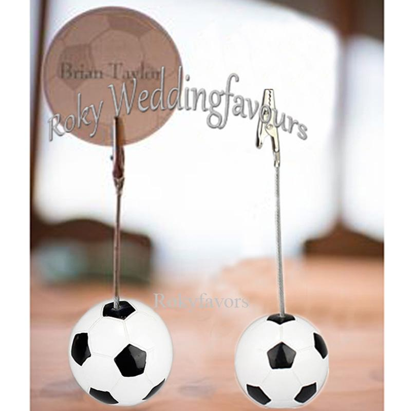 12PCS Sports Theme Football Place Card Holder Birthday Party Table Shower Anniversary Party Decors Name or Photo Clip