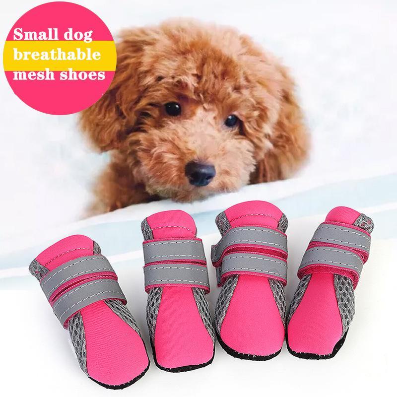 작은 개 애완 동물 용품을 걸어 2020 새로운 핫 판매 애완 동물 신발 개 신발 테디 푸들 신발 야외 사계절 통기성