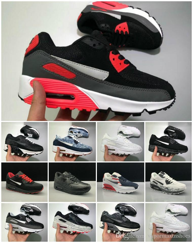 2020 Men Sneakers Shoes Classic 90 Men And Woman Shoes Sports Trainer Air Cushion Surface Breathable Sports Shoes 36 45 Summer Shoes Best Shoes From