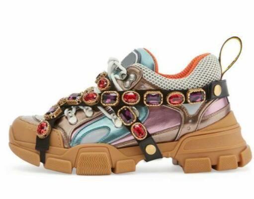 Çıkarılabilir Kristaller Kadın MEN Designer ile 2018 FlashTrek Casual ayakkabılar Spor ayakkabılar Dağcılık Ayakkabı Açık Yürüyüş botları Koşu