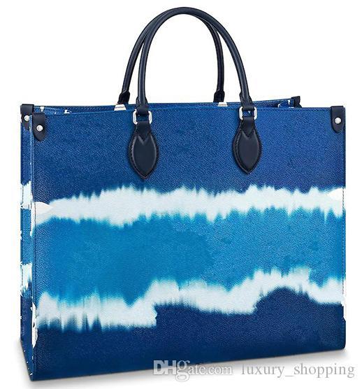 OnThego جودة عالية أزياء التسوق اليد مصمم حقيبة يد كبيرة دوبلكس الطباعة طويلة الكتف حزام متعدد الألوان نمط المرأة حقائب اليد