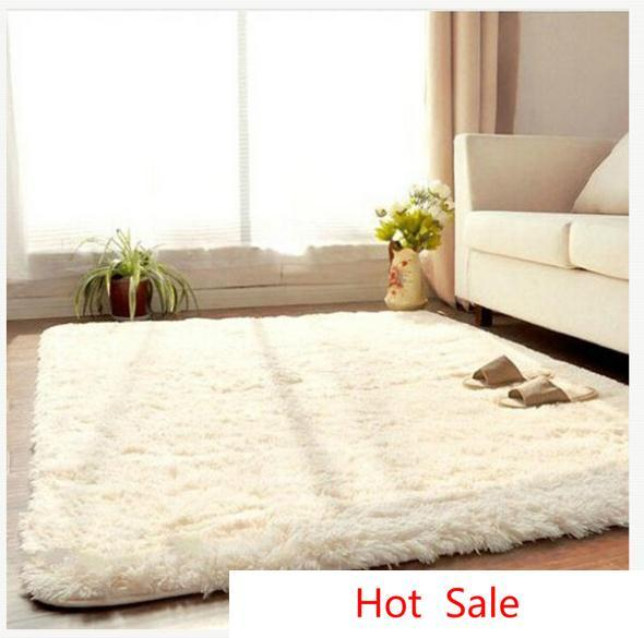 Wholesale-New Fashion Living Dining Car Flokati Shaggy Rug Anti-skid Carpet Seatmat/Brand Soft Carpet For Bedroom 50*80cm