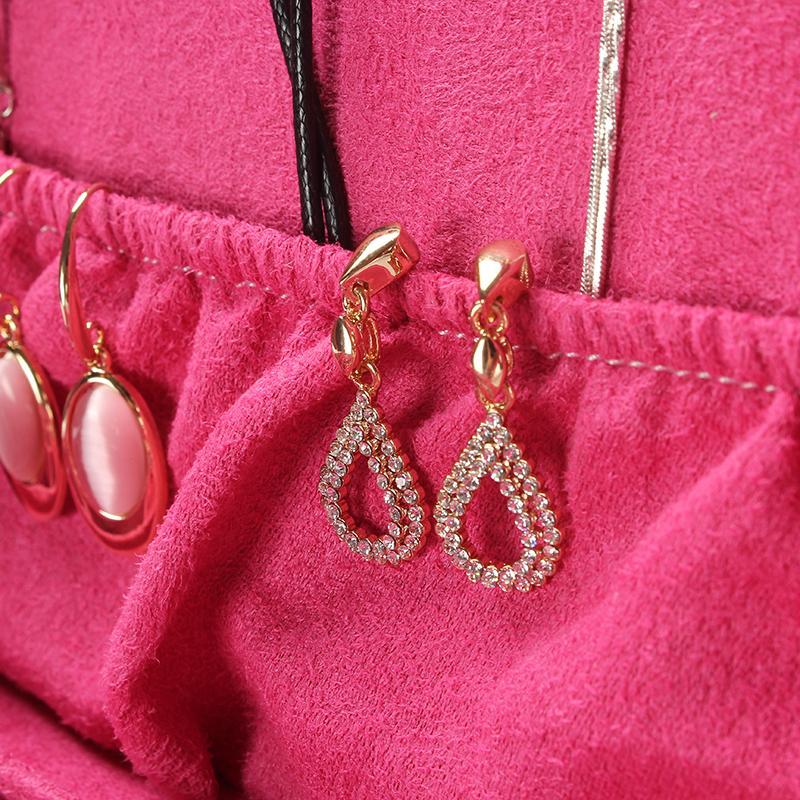 2019 New Style 2 camadas de veludo de jóias presente da moda Caixa de Jóias Design de Moda Caixão