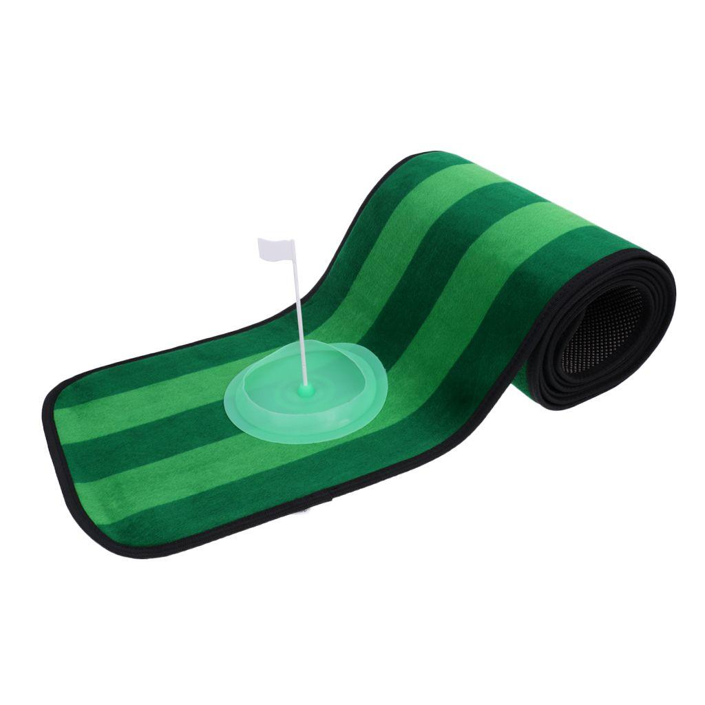 10' x 1' Non-slip Indoor Outdoor Practice Golf Putting Green Mat Golf Training Aid