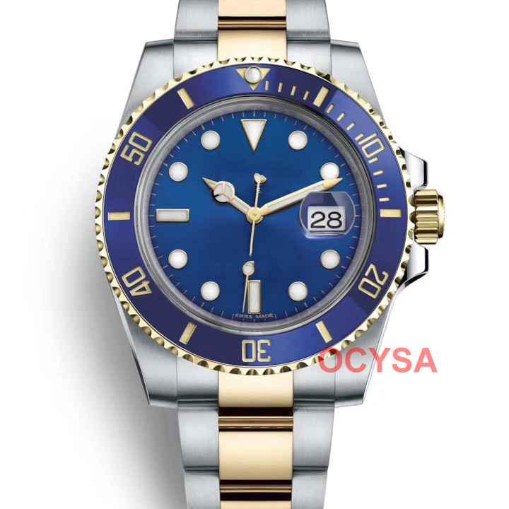 Or les femmes de la mode de luxe en acier inoxydable Hommes Mouvement automatique gmt Hommes Montres Designer Montre Professional Diver maître homme Montres-bracelets