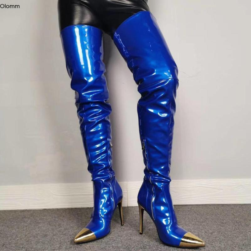 Olomm New Women Thigh High Boots