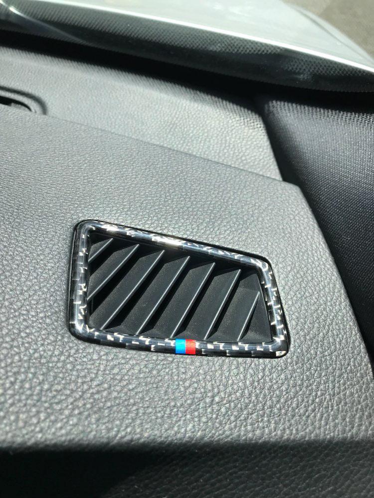 ACYCY Cadre D/écoratif De Voiture pour BMW E90 E92 E93 M3 E82 M3 1M 2008 2009 2010 2011 2012 2013 Garniture De Couverture De Volant De Style Noir en Fibre De Carbone Abs