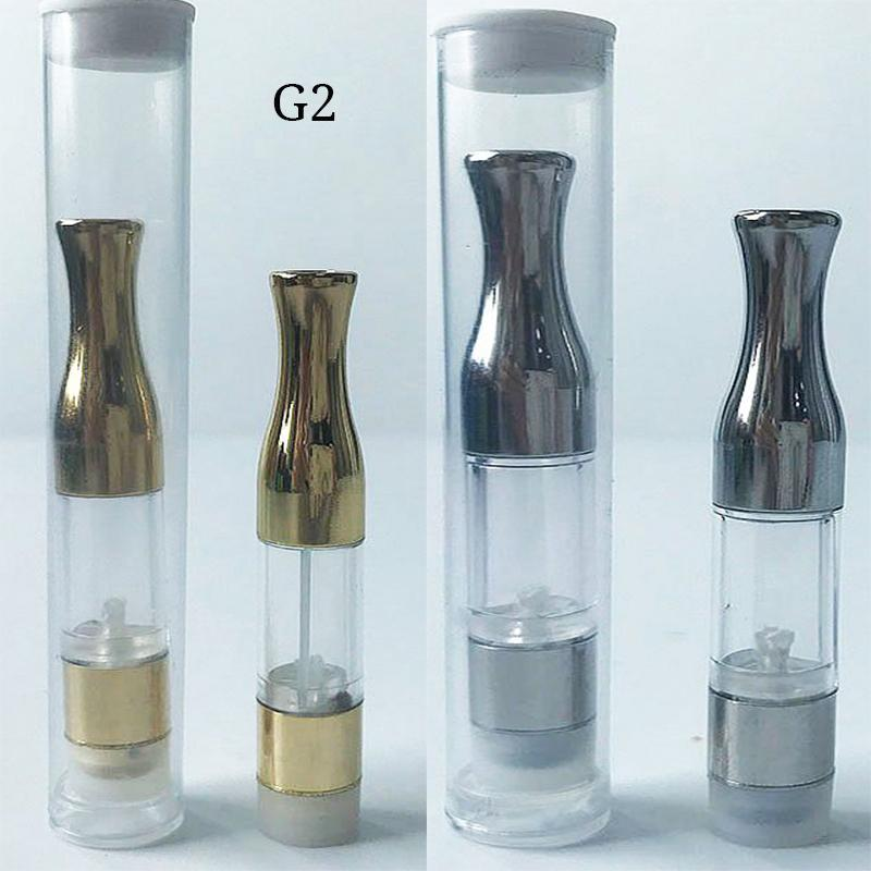 G2 Vaporizer Pen Cartridges Silver Gold Drip Tip 1ml PC Tank 510 Oil Cartridge Vapor Empty Oil Pen Cartridges