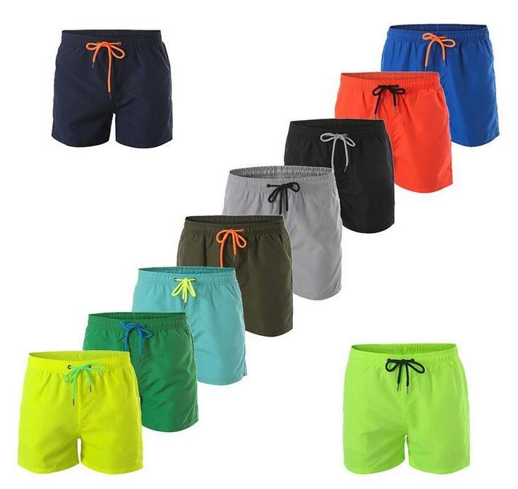 sólida Estilo Casual calças de praia de Moda de Nova Mens Shorts Board Shorts Cor Men Summer Beach Swimming Shorts Homens de alta qualidade curto