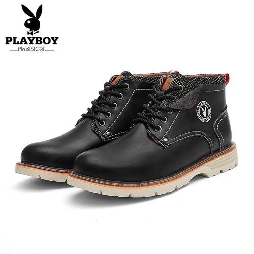 Großhandel Playboy Neue Männer Winter Warme Stiefel Knöchel Freizeitschuhe Lace Up Herrenmode Plüsch Schnee Stiefel Pu Leder Warme Schuhe Ds87275 Von
