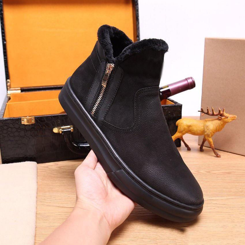 modo di alta qualità WGG Winter Snow Boots Australia, Classic Black stivali alti stivali in vera pelle molle comodo, indossare scarpe da uomo resistente