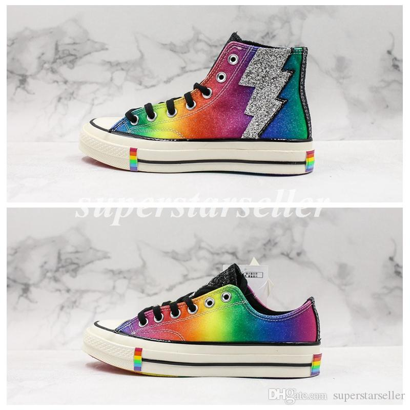 2019 Chuck 70er Jahre Hi Pride Rainbow Stonewall Riots 1970er Jahre Canvas Skate Schuhe Classic 1970 Designer Schuhe Skateboard Star Casual Sneakers Größe 44