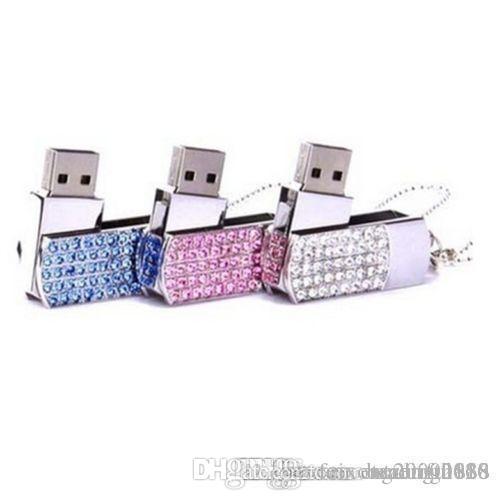 New crystal Portable lock 16GB USB flash memory stick flash disk drives