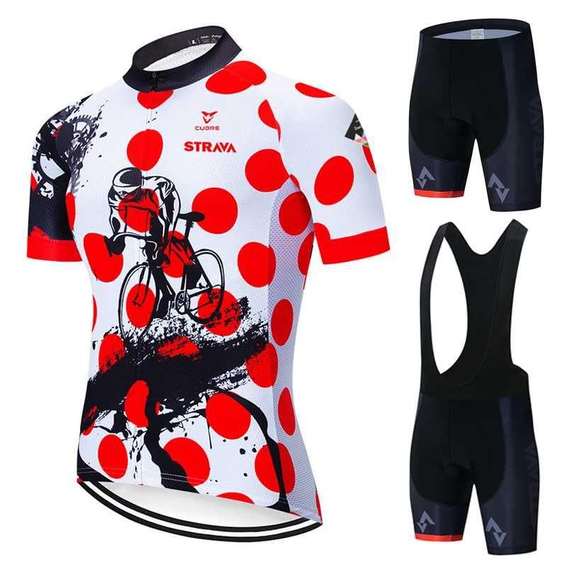 Maillot cyclisme Set 2020 été Strava Vélo Vêtements Maillot Ropa Ciclismo VTT Vêtements Vélo sport Costume Maillot