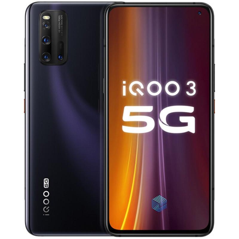 "Original Vivo IQOO 3 5G Mobile Phone 6GB RAM 128GB ROM Snapdragon 865 Octa Core Android 6.44"" 48.0MP NFC Wake Face ID Fingerprint Cell Phone"