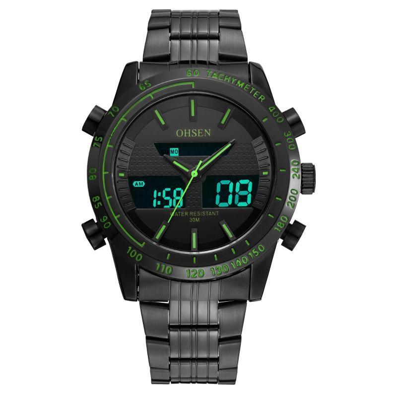 Ohsen Onsun Ad1701 multifunzionale Dual Display elettronico esterna impermeabile LED Watch