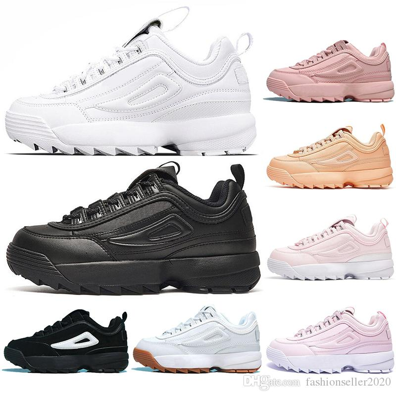 2019 With SocksFILA2020 Designer Triple White Black Grey Women Men Special Section Sports Sneaker Increased Jogging Running Shoes 35 45 From