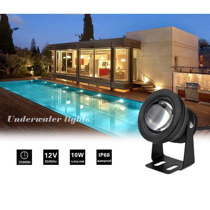 Wasserdichte 10 Watt RGB LED Licht Garten Brunnen Pool Teich Scheinwerfer Super Helle Unterwasser Licht Lampe Mit Fernbedienung