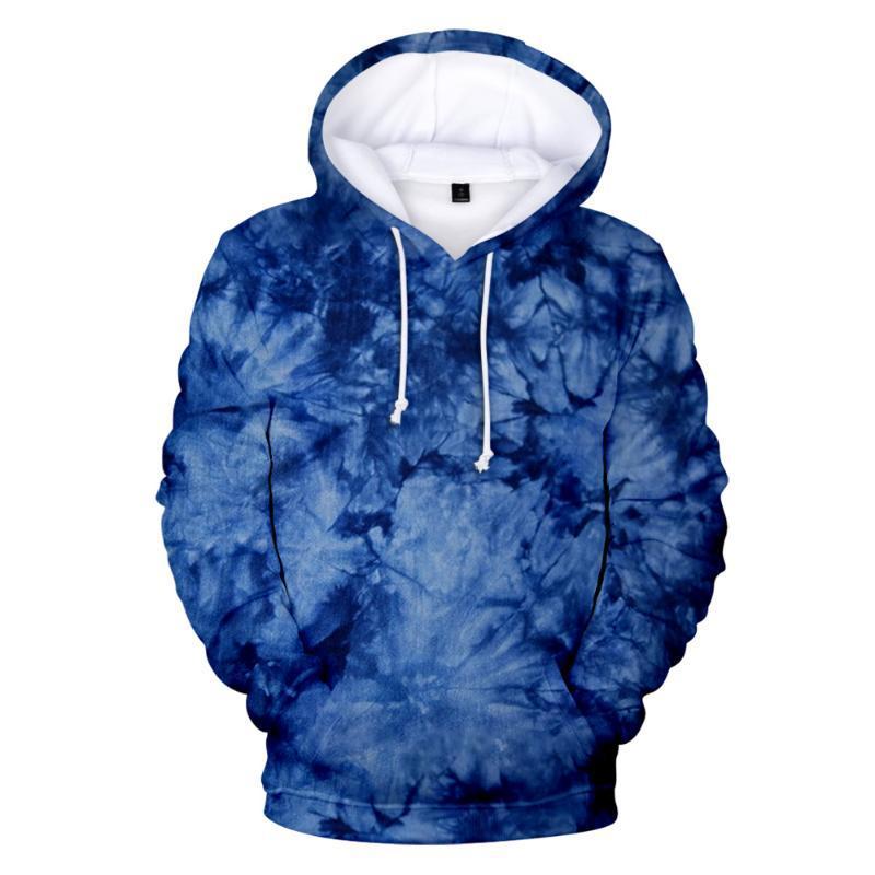 Мужские толстовки для толстовок Мужчины / Женщины Tie-Dye Pattern Harajuku Толстовка Hoodie Pullovers Мода 3D Топы Печать с длинными рукавами