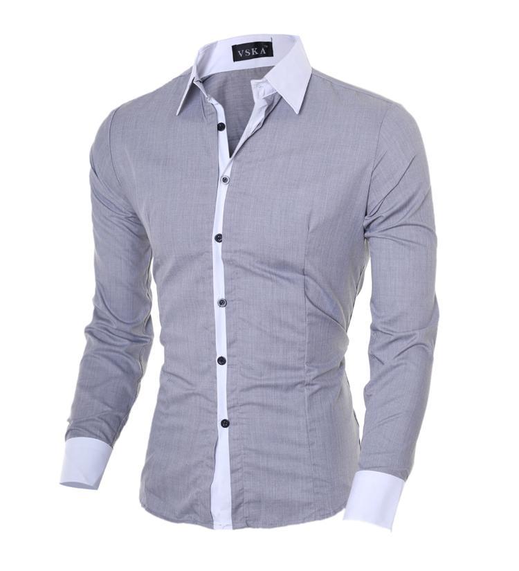 Erkek Uzun Kol Casual Gömlek Dropshipping, Erkek Gömlek Slim Fit Şık Günlük