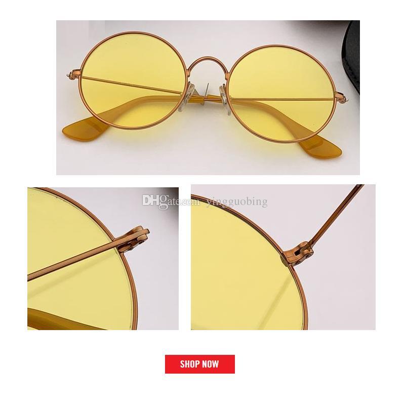 أحدث مصنع الإطار أزياء جولة معدن نظارات شمس رجل إمرأة ريترو كلاسيكي كبير دائرة جولة النظارات الشمسية جا جو أسلوب UV400 3592 gafas