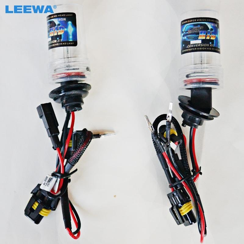 Leewa 10pcs Araç 35W H1 H3 H7 H8 / H9 / H11 H10 9004 9005 9006 9007 880/881 Xenon HID Ampul Değiştirme Singel Ampüller # CA2305