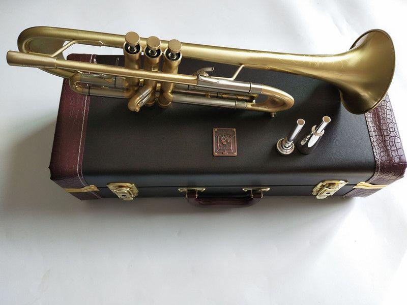 جديد باخ البوق ب شقة البوق LT197GS-77 الآلات الموسيقية أثقل نوع الذهب تصفيح البوق لعب الموسيقى مع المعبرة