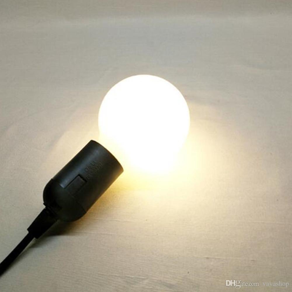 1 W E27 LED Globo Lâmpadas G45 Contas SMD 3528 Branco Quente 220 V para Decoração 10 pcs