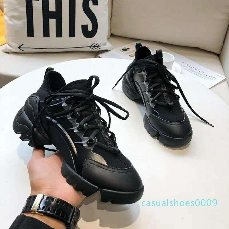 Desenhador de moda sapatos Dorky pai Triplo Desi para sapatas das mulheres dos homens Bege Preto Sports 35 - 40 C09
