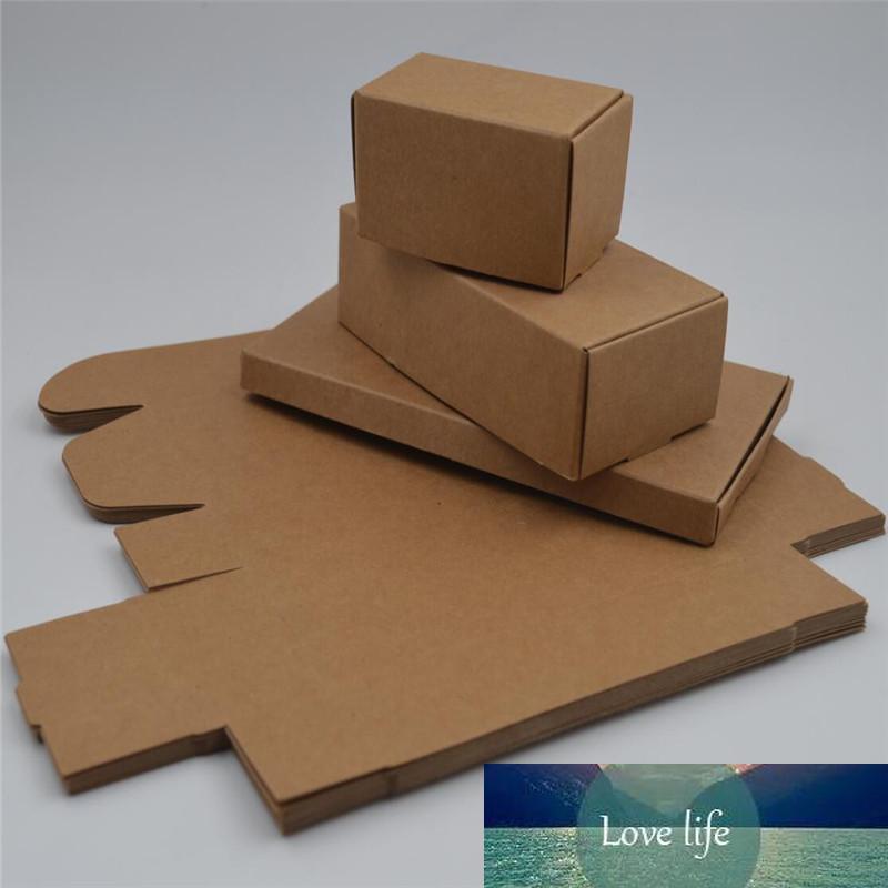caja de regalo de papel de cartón de embalaje de regalo barato Kraft pequeña caja de papel artesanal de jabón natural hecho a mano caja de embalaje de cartón kraft
