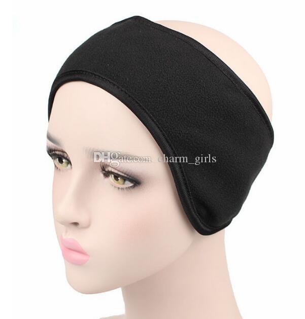2019 New fashion winter Double deck ear muffs Headband unisex ear warmer polar fleece Hair band skiing ear warmer outdoor 10pcs