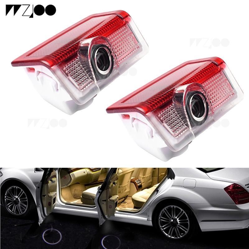 2 ADET LED Araba Kapı Işık Logosu Mercedes Benz W213 için E Sınıf W212 M W166 ML Lazer Projektör Işık Amblem Hayalet Gölge Lamba Aksesuarları