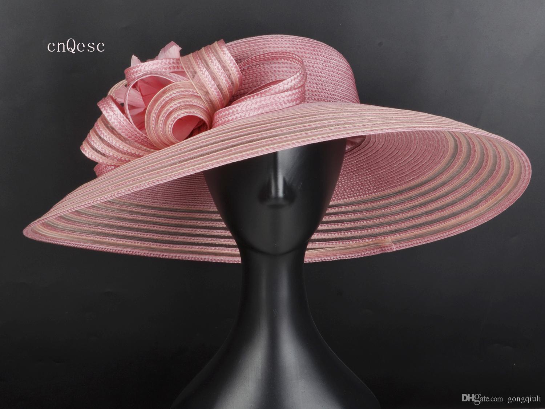 2019 X Large Ladies cappello di paglia cappello da sole per derby cappello formale per la festa della mamma Royal Ascot Kentucky Derby Races