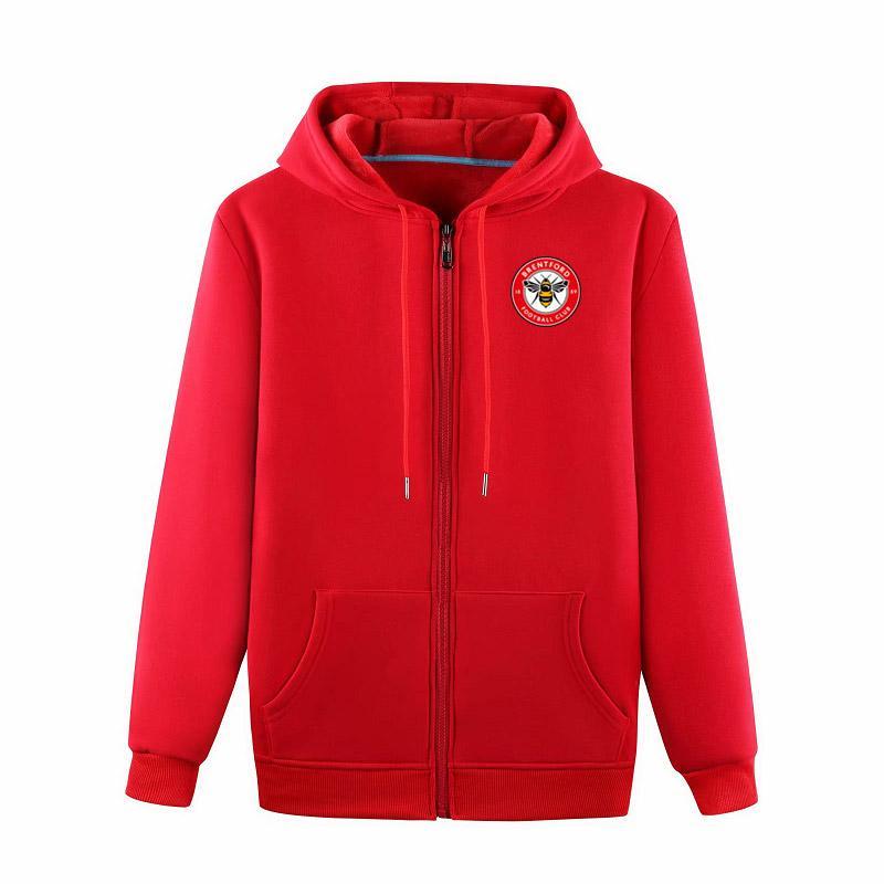 брентфордс футбольные куртки футбольные майки спортивная тренировочная куртка мода досуг куртки с капюшоном с длинным рукавом футбольные куртки болельщики топы