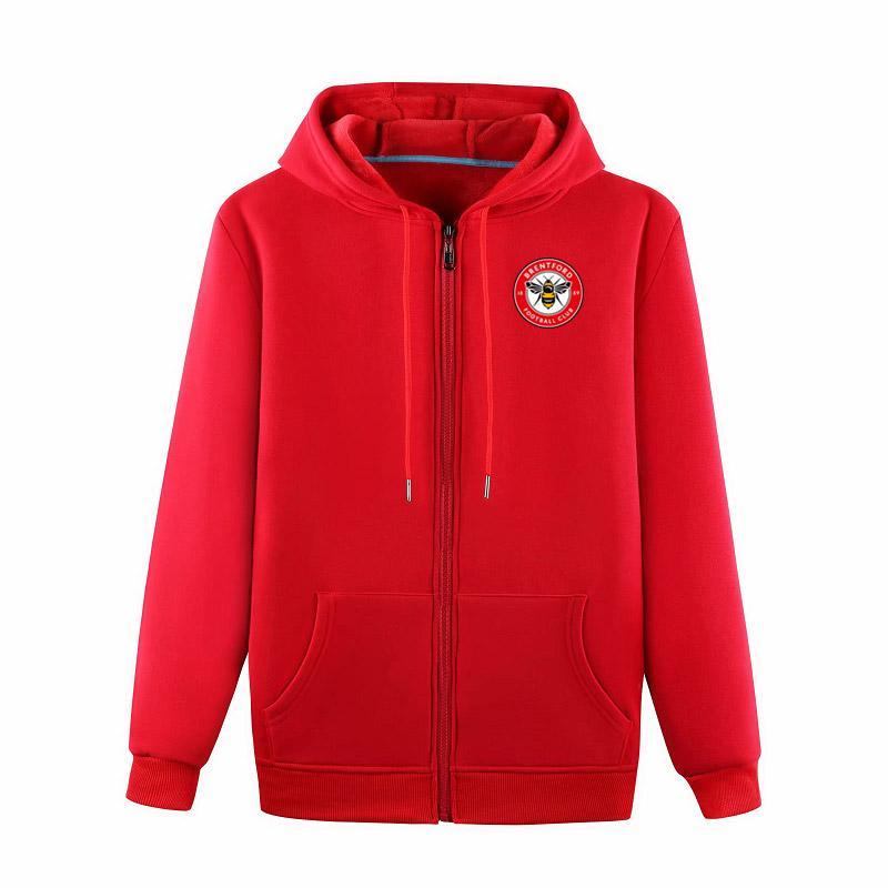 brentfordss fútbol chaquetas deportivas Fútbol de formación de la chaqueta con capucha de ocio de moda chaquetas de manga larga de fútbol chaquetas Ventiladores Tops
