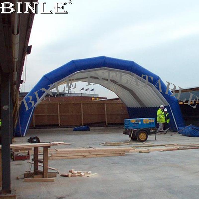 منتج جديد هيكل مؤقت للنفخ الملاجئ ورشة عمل خيمة للبيع قبة كبيرة تغطي المرحلة