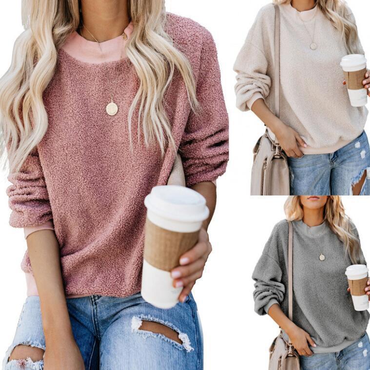 Womens Hoodies Luxo 2020 Designer Moda Outono hoodies camisolas Casual cor sólida Tops Vestuário Womens Tamanho S-2XL