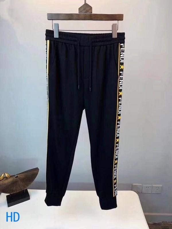 2019 Nuevo patrón Pantalones casuales Pantalones deportivos para hombre Pantalones delgados y pequeños pies Edición coreana Pantalones deportivos Bordado y exquisito 51