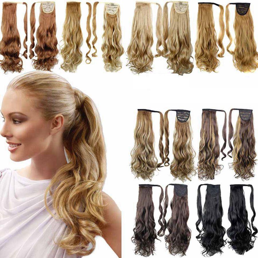 Queue De Cheval Synthétique Pince À Cheveux En Queue De Poney Cheveux Queue De Cheval Perruque Haute Température Faux Cheveux Perruques Synthétiques 15 styles RRA1894
