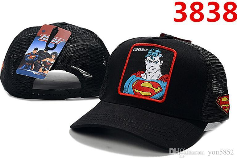 핫 세일 브랜드 새로운 DC 만화 Snapback 모자 BATMAN 조절 슈퍼맨 모자 남자 여자 야구 모자 패션 힙합 모자 마블 만화 스타일