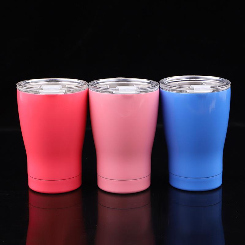 14 oz Garrafas De Água Copo de Aço Inoxidável Parede Dupla Tumbler Vacuum Duplas Copos Frasco de Cerveja Canecas De Café Com Tampa 3 cores GGA1843