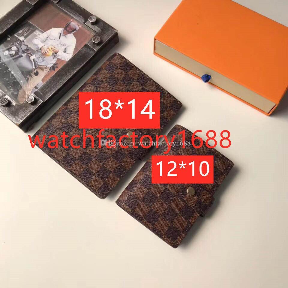 Pequeño y mediano anillo agenda cubierta cuaderno diseñador hombres billetera moda hombres cuaderno tarjeta de crédito chaqueta mujeres bloc de notas billetera de lujo