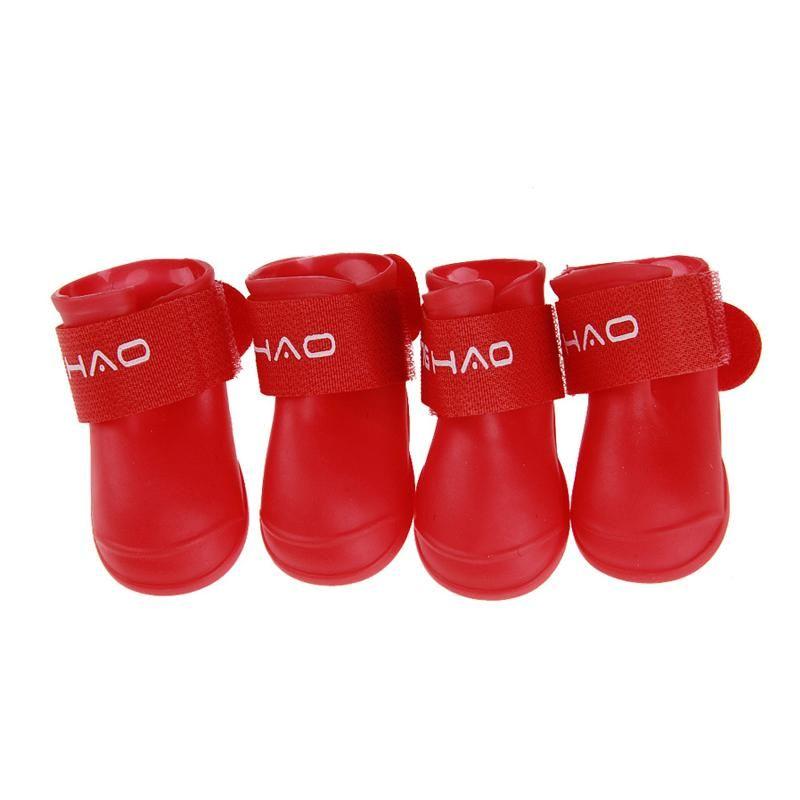 8 Color XXL 4 UNIDS Conjunto Al Aire Libre Zapatos de Lluvia para Mascotas antideslizantes Duraderas Botas de Lluvia Pequeño Perro Grande Protector de Lluvia A Prueba de agua para Mascotas BC BH0982-4