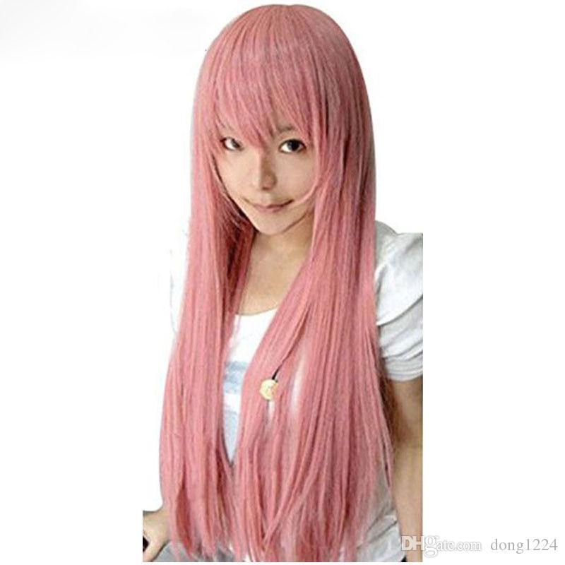 100CM Vocaloid Luka Wig Ruka Cosplay Wigs Smoke Pink Cosplay Wig + Wig Cap