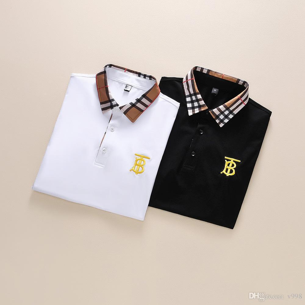 2020 люкс европейского моды в Париже Мужчины люксовый бренд Polo Мода мужчин Дизайн логотипа рубашка Повседневная Мужская одежда Medusa Хлопок T-Shirt Роскошные поло