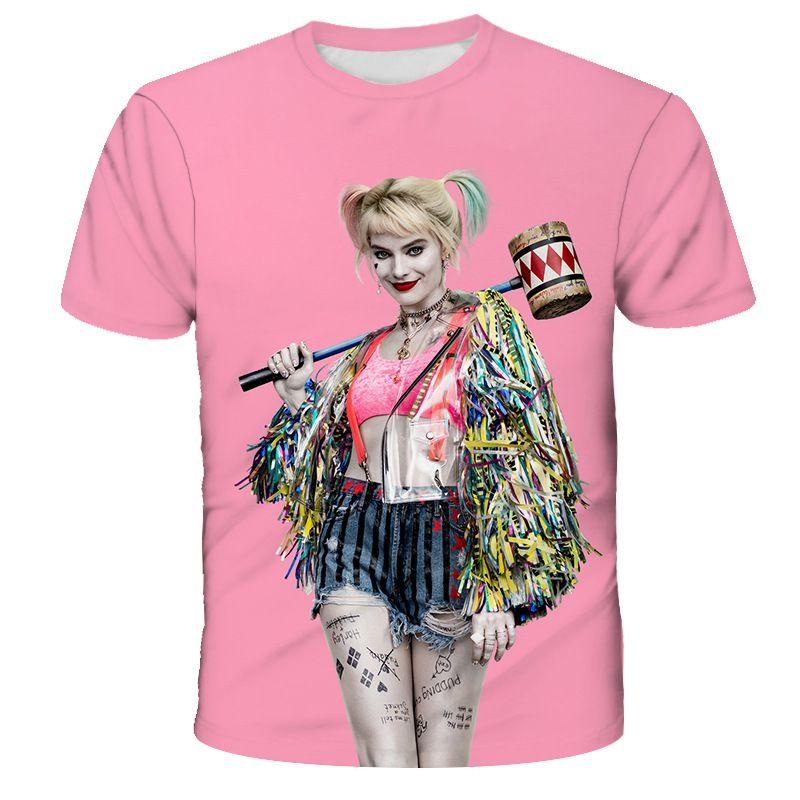 Sommer-kühle 3D Harley Quinn T-Shirt Männer / Frauen Mode Street Hip Hop Harajuku 3D-Drucken Naruto Männer T-Shirt Kleidung Top