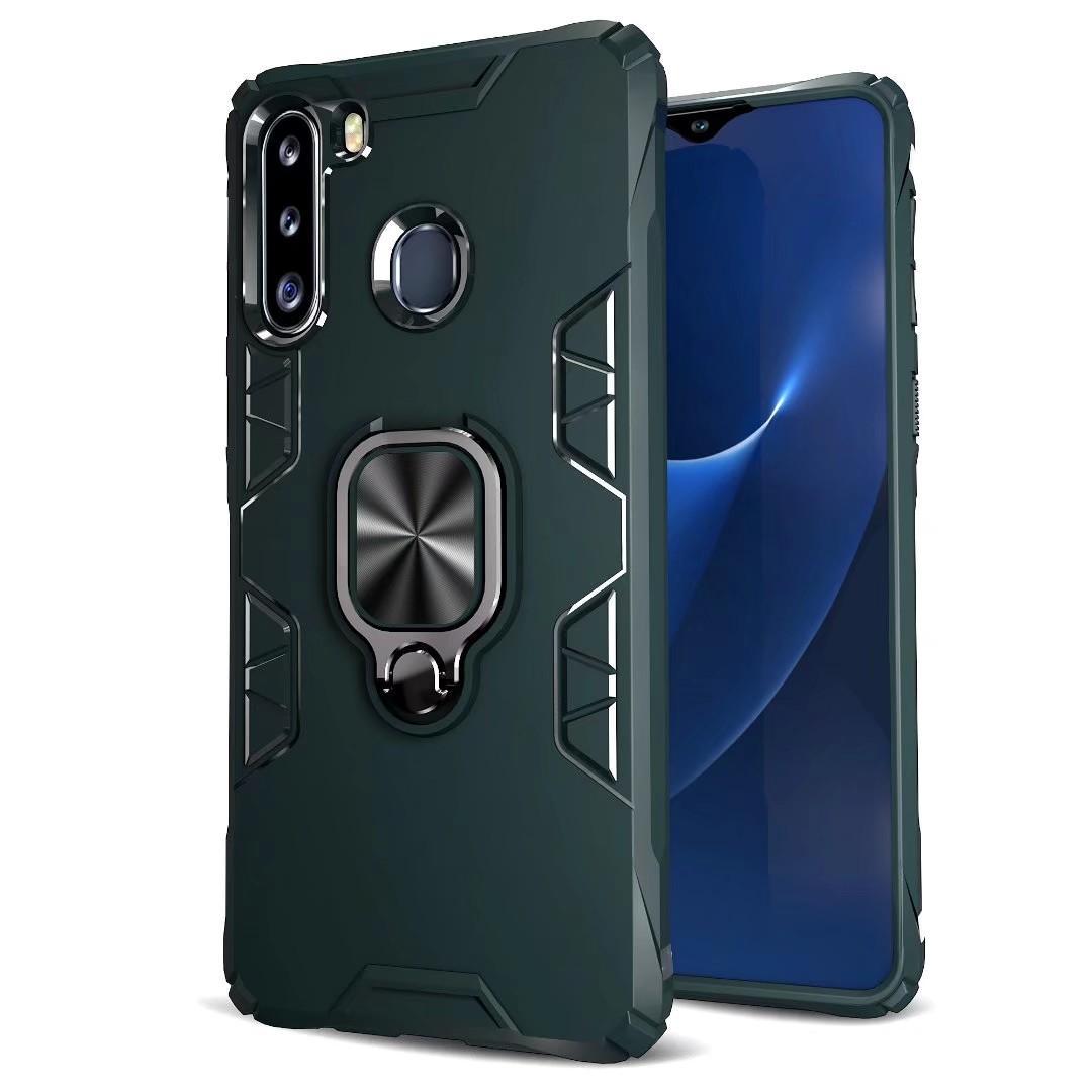 Caja de la armadura de metal anillo de teléfono para Samsung Galaxy S20 S20 Ultra Plus A71 A51 A41 A21 5G A21S A11 A01 A20 A70 A50 A30S A30 A20 A10 A10E