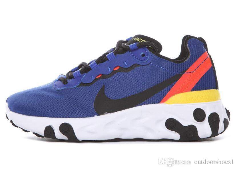 Kids UNDERCOVER x Upcoming React Element 87 Pack White Sneakers Brand boys girls Trainer children Designer Running Shoes Zapatos 2019 New