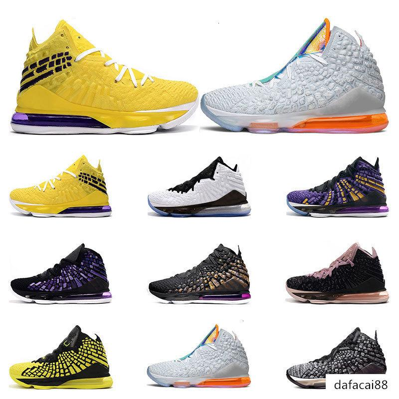 New arrivel mens basketball shoes 17s sports sneakers trainers Athletic black white Future purple yellow mens size 7-12