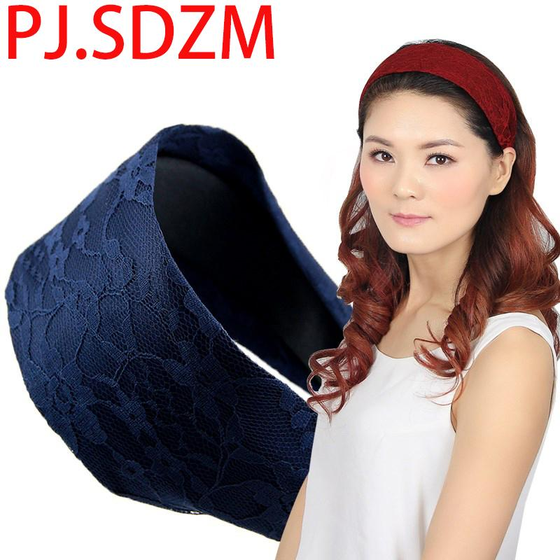 Rendas coreano Acessórios Para o Cabelo para As Mulheres Broadband Headband Moda Tecido Hairband Com Dentes Preto Elegante Todos Os Fósforos Faixa de Cabelo